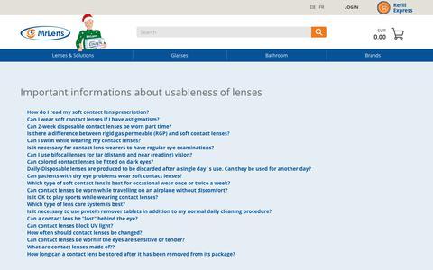 Screenshot of FAQ Page mrlens.de - Contact Lenses FAQ - captured Nov. 18, 2017