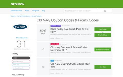 Old Navy Coupons, Promo Codes & Deals, November 2017 - Groupon | Groupon