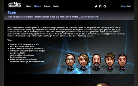 Screenshot of Team Page glare-productions.com - Glare Productions - captured Oct. 2, 2014