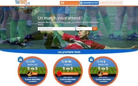 Screenshot of Home Page yafoot.fr - YAFOOT - Trouver un match de football près de chez vous ! - captured Sept. 30, 2014