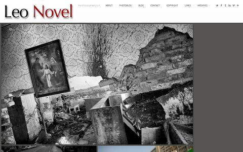 Screenshot of Home Page leonovel.pro - Photojournalist Based in Paris Photographer Leo Novel - captured Jan. 28, 2016