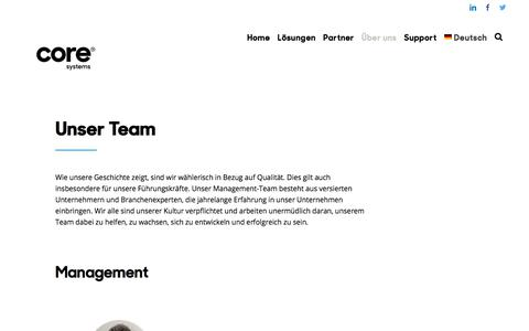 Screenshot of Team Page coresystems.ch - Team | Coresystems - captured Sept. 19, 2018