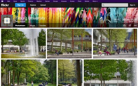 Screenshot of Flickr Page flickr.com - Flickr: Tilburg University's Photostream - captured Oct. 25, 2014