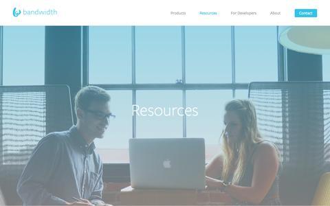 Screenshot of Case Studies Page bandwidth.com - Resources - Bandwidth.com - captured Dec. 31, 2016