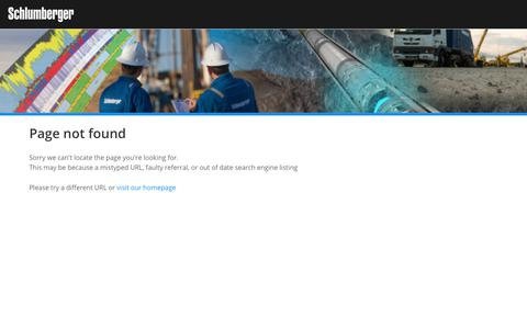Screenshot of Home Page slb.com - 404 - captured July 15, 2019