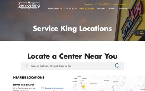 Screenshot of Locations Page serviceking.com - Service King Locations | Service King - captured May 28, 2017
