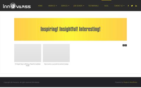 Screenshot of Blog innovarss.com - Blog - captured May 27, 2017