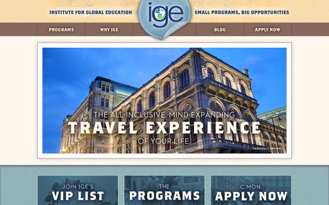 Screenshot of Home Page igeabroad.com - Study Abroad in Vienna | IGE Study Abroad - captured Oct. 6, 2014