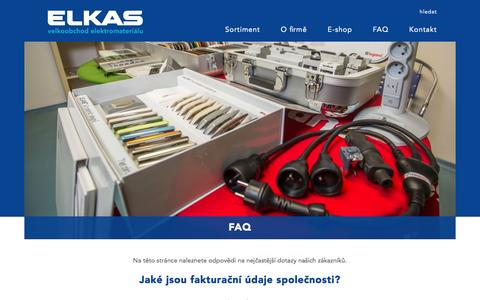 Screenshot of FAQ Page elkas.cz - JAKUB Group / elkas.cz - FAQ - captured April 6, 2017