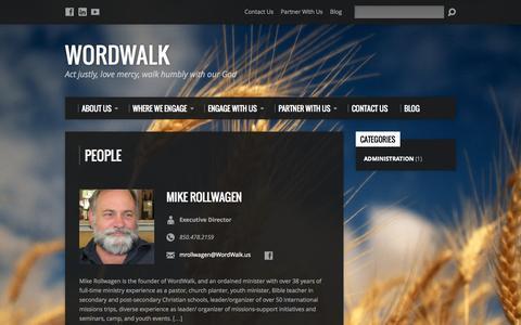 Screenshot of Team Page wordwalk.us - People Archive - WordWalk - captured Oct. 26, 2014