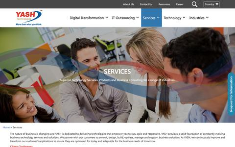 Screenshot of Services Page yash.com - Information Technology Services | Business Information Technology Consultant | IT Consulting Services - captured June 24, 2017