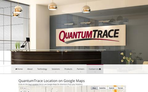 Screenshot of Maps & Directions Page quantumtrace.com - Map to QuantumTrace - captured Oct. 1, 2014