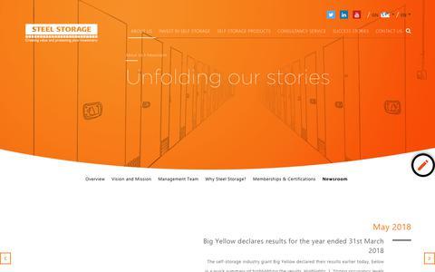 Screenshot of Press Page steelstorage.net - Self Storage Industry News   Steel Storage - captured Sept. 23, 2018