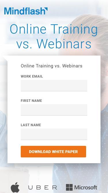 Self-Paced Online Training vs. Webinars