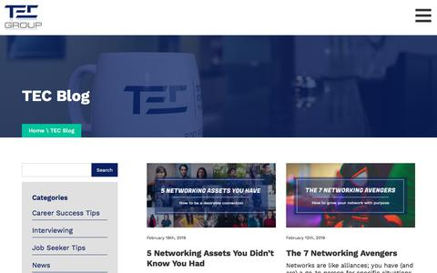Screenshot of Blog tec.biz captured Oct. 17, 2019