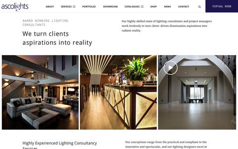 Screenshot of Services Page asco-lifestyle.co.uk - Lighting Consultants | By Asco Lights - captured Oct. 8, 2017