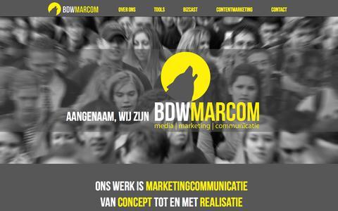 Screenshot of Home Page bdwmarcom.nl - BDWMARCOM - captured Feb. 7, 2016