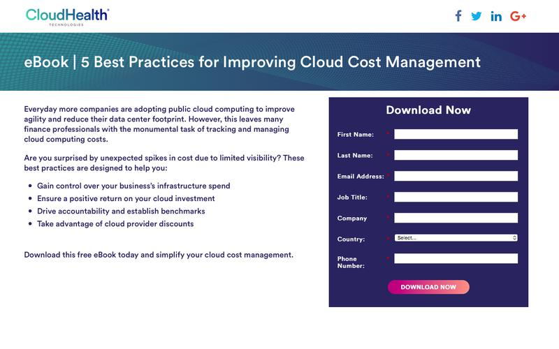 eBook | 5 Best Practices for Improving Cloud Cost Management