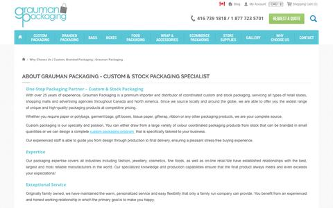 Screenshot of About Page graumanpackaging.com - Why Choose Us |  Custom,  Branded Packaging | Grauman Packaging - captured Sept. 11, 2017