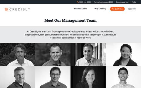 Screenshot of Team Page credibly.com - Meet the Credibly Team | Top Experience | Credibly - captured Feb. 16, 2016
