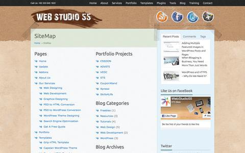 Screenshot of Site Map Page webstudio55.com - Site Map | Web Design Studio - captured Sept. 22, 2018