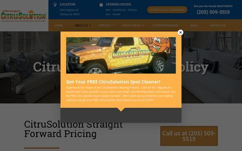 Screenshot of Pricing Page citrusbirmingham.com - | CitruSolution of Birmingham | (205) 509-5519 - captured Aug. 21, 2018