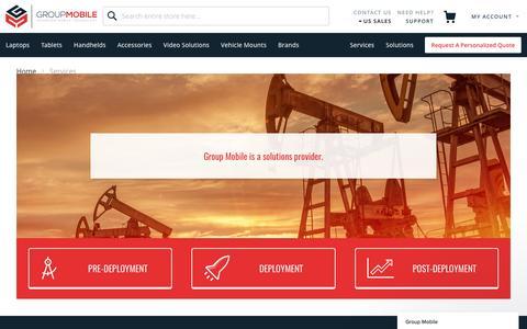 Screenshot of Services Page groupmobile.com - Services and Solutions | GroupMobile.com - captured May 25, 2017