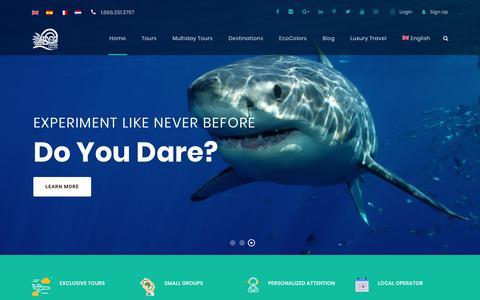 Screenshot of Home Page ecotravelmexico.com - Home - Eco Travel Mexico - captured Nov. 8, 2018