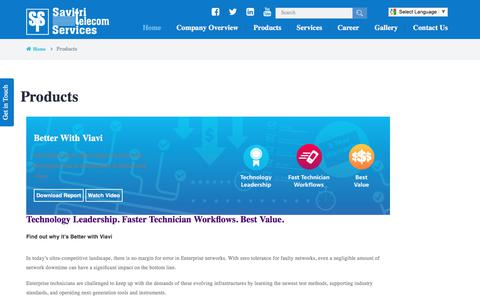 Screenshot of Products Page savitritelecom.com - Telecom Instruments Manufacturers Delhi, Networking Devices Traders Suppliers India - captured July 5, 2017