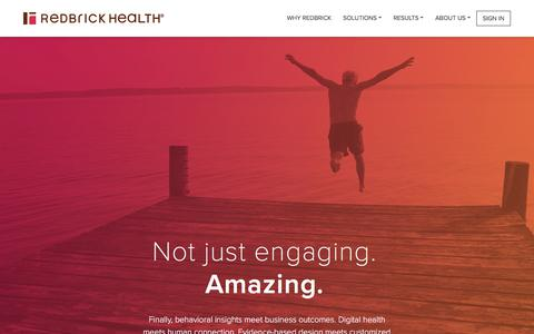 Corporate wellness and employee engagement solution – RedBrick Health