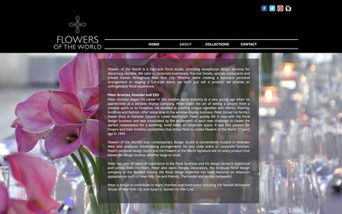 Screenshot of About Page flowersoftheworld.com - Flowers of the World | ABOUT - captured Aug. 18, 2018