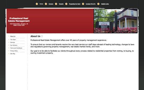 Screenshot of About Page premrentals.com - Professional Real Estate Management - About Us - captured Oct. 3, 2014