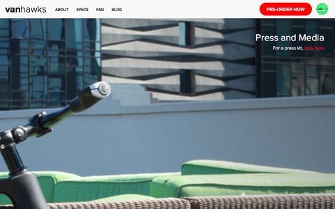 Screenshot of Press Page vanhawks.com - Vanhawks | Press - captured Oct. 27, 2014