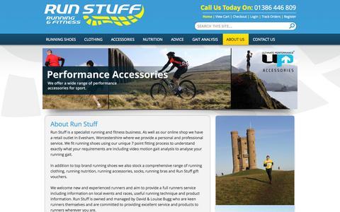 Screenshot of About Page run-stuff.co.uk - About Us | Run Stuff - captured Oct. 27, 2014