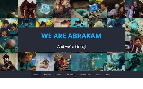 Screenshot of Home Page abrakam.com - Abrakam - Game makers. Driven by passion. - captured Aug. 30, 2015