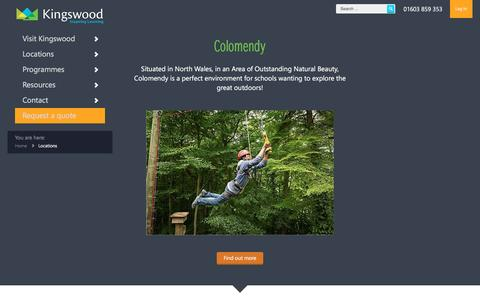 Screenshot of Locations Page kingswood.co.uk - Centres for outdoor education and adventure UK and France   Kingswood - Kingswood - captured Nov. 27, 2016