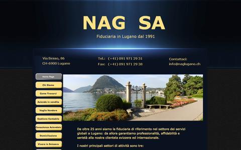 Screenshot of Home Page naglugano.ch - NAG 2013 - captured Oct. 13, 2015