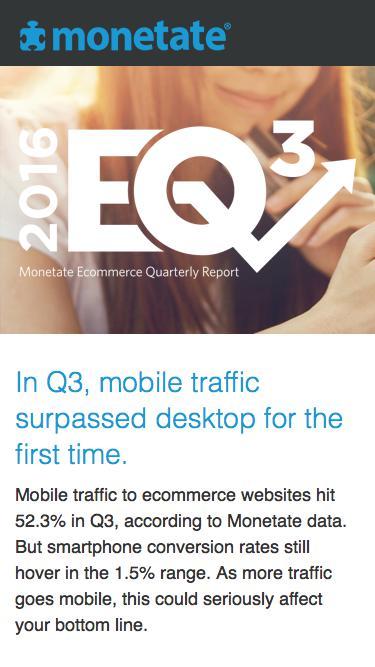The Ecommerce Quarterly (EQ3 2016) | Ecommerce benchmark report from Monetate