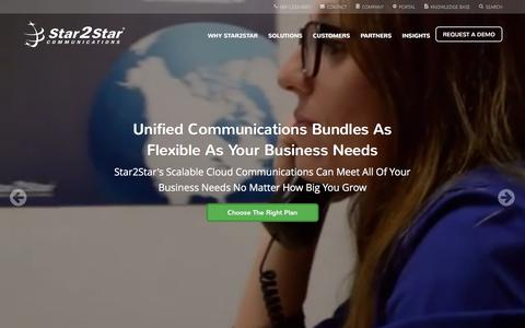 Screenshot of Home Page star2star.com - Star2Star: World's Most Scalable Cloud Communications Solution - captured Feb. 10, 2016