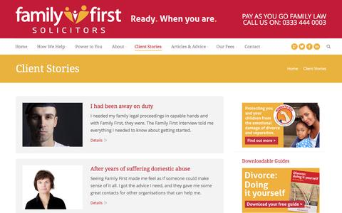 Screenshot of Case Studies Page familyfirstsolicitors.co.uk - Case Studies | Family First Solicitors | Oxford & Reading - captured Feb. 9, 2016