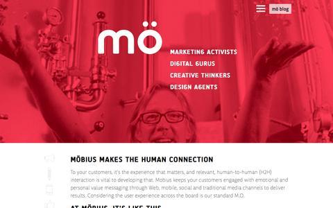 Screenshot of Home Page mobiusnm.com - Mobius New Media: Wilmington Delaware Web Design Print Video Photo SEO Marketing - captured Nov. 18, 2015