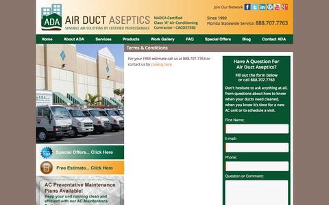 Screenshot of Terms Page adaflorida.com - Terms & Conditions adaflorida.com - captured Feb. 5, 2016