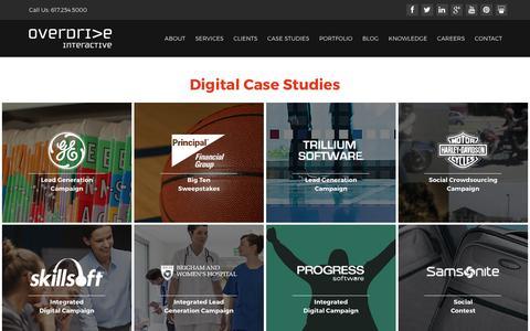 Screenshot of Case Studies Page ovrdrv.com - Case Studies - Online Marketing, Online Media, Search Marketing | Overdrive Interactive - captured Sept. 6, 2017