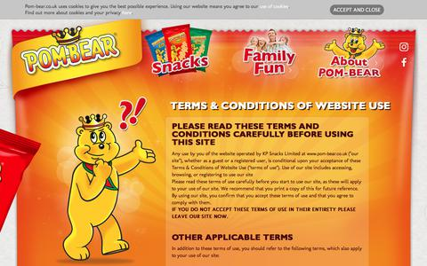 Screenshot of Terms Page pom-bear.co.uk - Terms & Conditions of website use   POM-BEAR - captured Jan. 30, 2018