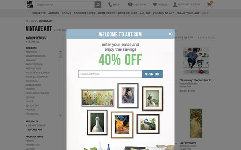 Vintage Art, Posters and Prints at Art.com