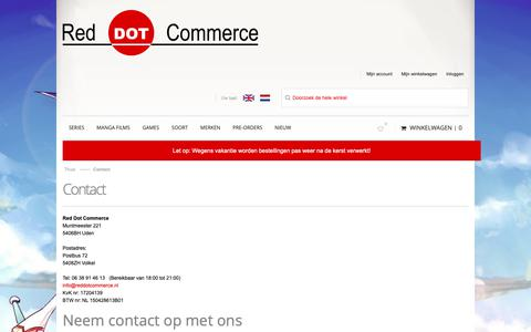 Screenshot of Contact Page reddotcommerce.nl - Contact - captured Dec. 11, 2018