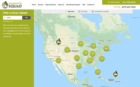 Screenshot of Locations Page mosquitosquad.com - Locations | Mosquito Squad - captured Feb. 16, 2019
