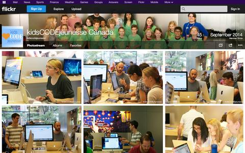 Screenshot of Flickr Page flickr.com - Flickr: kidscodejeunesse's Photostream - captured Oct. 29, 2014
