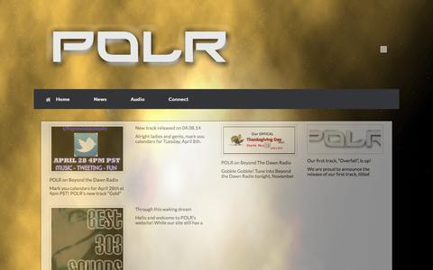 Screenshot of Press Page polrmusic.com - News | POLR | Colorado Atmospheric Rock - captured Oct. 1, 2014