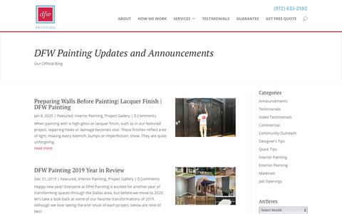 Screenshot of Press Page dfwpainting.com - Official Blog of DFW Painting | DFW Painting - captured Jan. 11, 2020